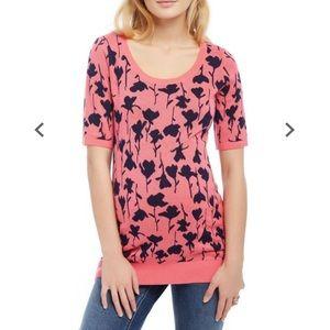 Motherhood maternity tunic short sleeve sweater XL